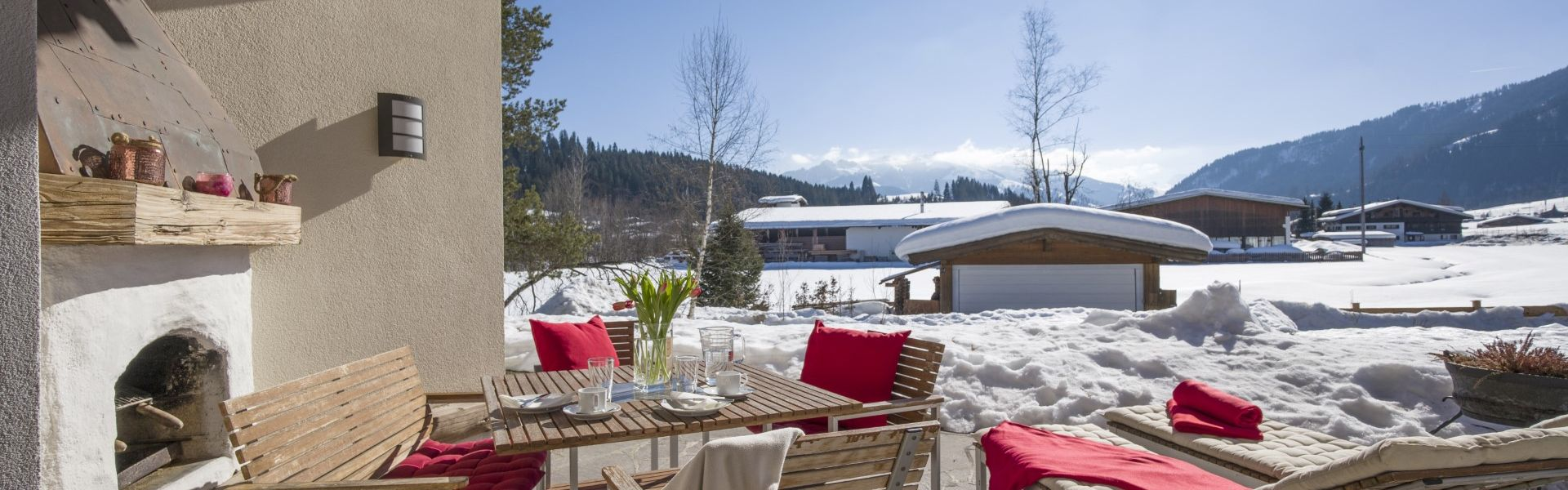 Appartements Skida Raintalweg 4 Reith Bei Kitzbuehel App Wilder Kaiser Terrasse Winter
